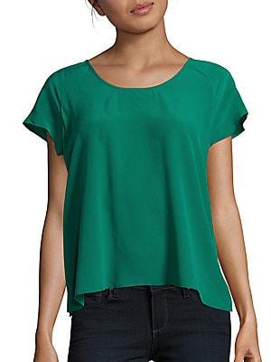 Bellona Short Sleeve Silk Top