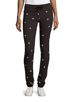Star Printed Fitted Pants