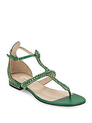 Studded T-Strap Sandals