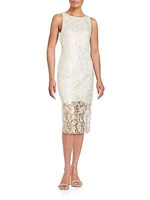 Shimmer Sleeveless Lace Dress