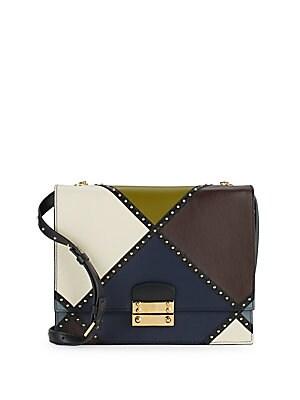 Geometric Multicolored Shoulder Bag