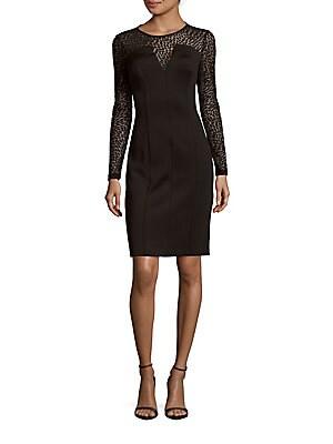 Solid Illusion Sheath Dress