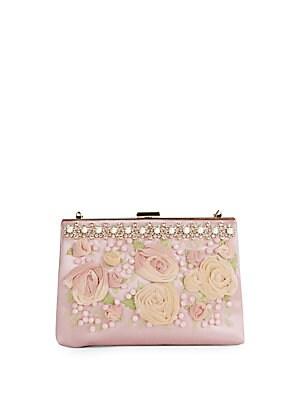 Silk Embellished Handbag
