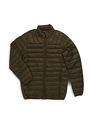 Big & Tall Solid Packable Puffer Jacket