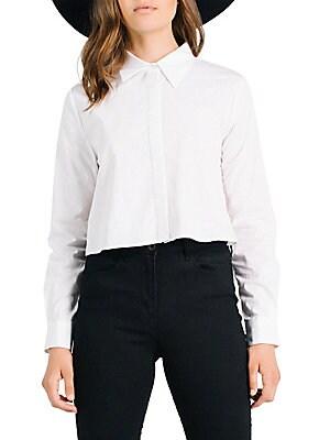 Gingham Open-Back Shirt