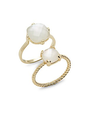 Semi-Precious Ring- Set of 2