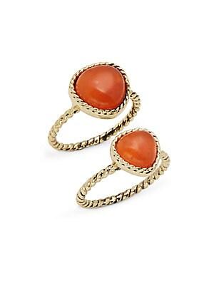 Semi-Precious Stone Rings- Set of 2