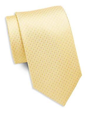 Circle and Diamond Silk Tie