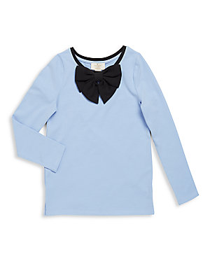 Toddler's Cotton Blend Bow Top