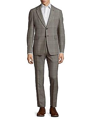 Checked Woolen Suit
