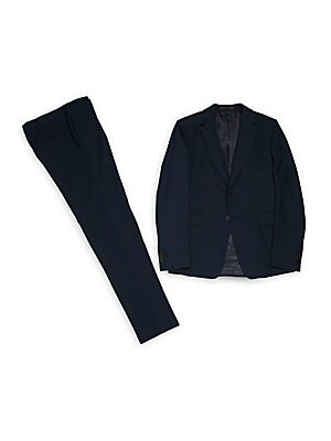 Wool-Blend Jacket & Pants Set