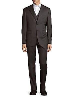 Three-Piece Wool-Blend Suit