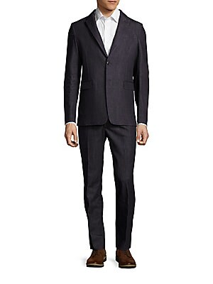 Cotton Long-Sleeve Suit