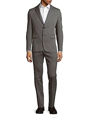 Slim-Fit Wool Jacket & Pants Set