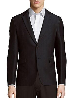 Wool-Blend Herringbone Jacket