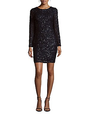 Roundneck Sequined Sheath Dress