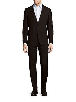 Solid Two-Button Suit