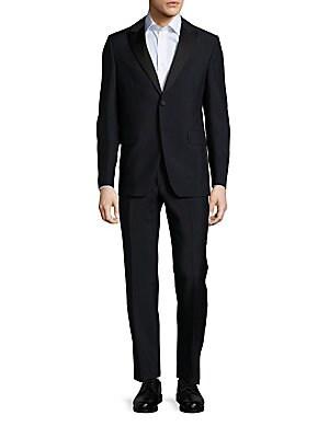 Mohair-Blend Two-Button Suit