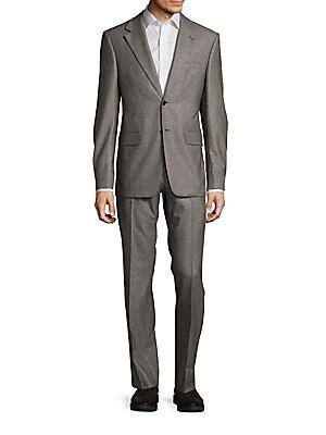 Textured Cashmere Blend Suit