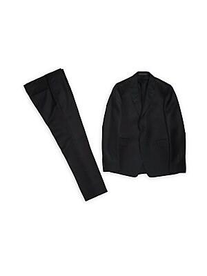 Solid Silk-Blend Suit