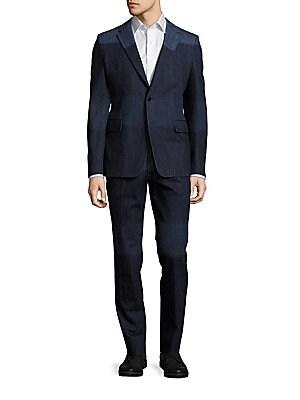 Two-Tone Cotton Suit