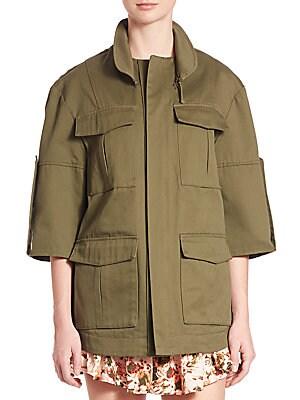 Jane Four-Pocket Cotton Cargo Jacket
