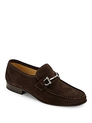 Suede Bit Loafers