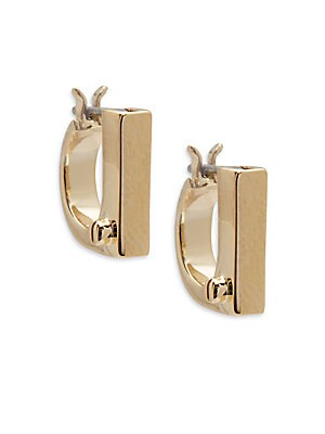 18K Gold-Plated Flat Earrings