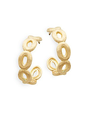 Siviglia Yellow Gold Hoop Earrings- 0.78in