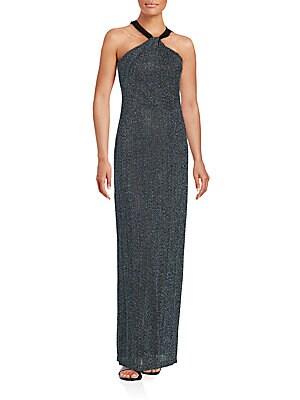 Sleeveless Halterneck Gown