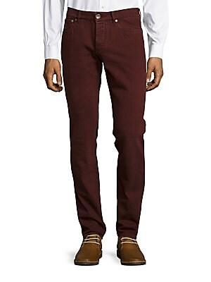 Solid Five-Pocket Pants