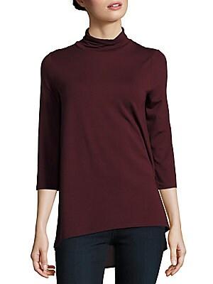 Solid Turtleneck Pullover