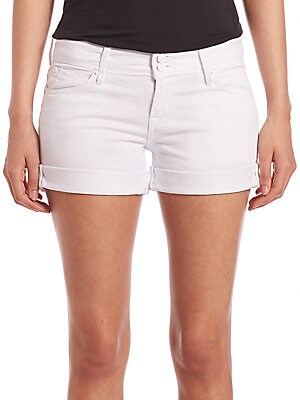 Mia Rolled White Denim Shorts