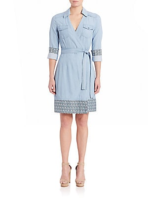 Savion Chambray Wrap Dress