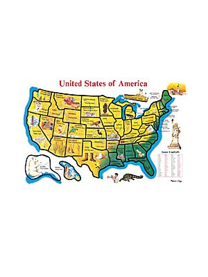 48Piece United States Map Cardboard Floor Puzzle
