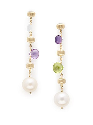 Click here for 7MM Pearl Topaz Amethyst Peridot Drop Earrings prices