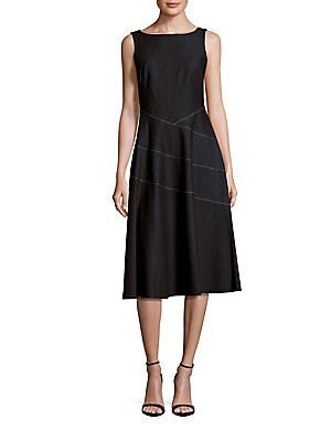 Sleeveless A-Line Denim Dress