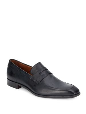 Saffiano Leather Penny Loafers
