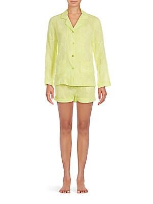 Silk Shirt & Shorts Set