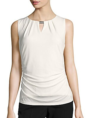 Sleeveless Ruched Top