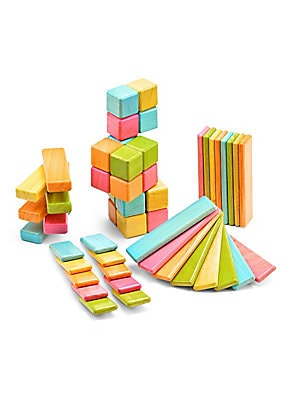 Classics 52-Piece Wooden Magnetic Block Building Set