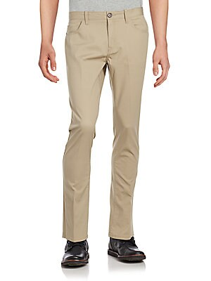 Stretch Bedford Cotton-Blend Pants