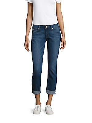 Straight Flood-Cuff Jeans