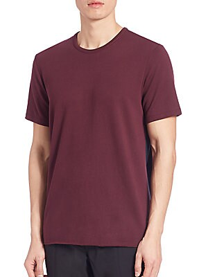 Colorblocked Pima Cotton Tee