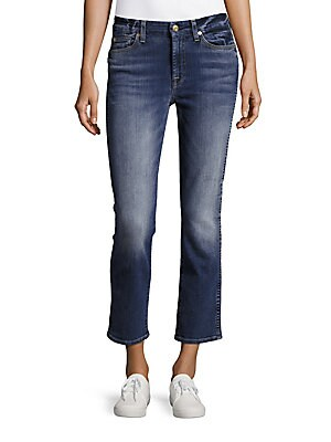 Straight-Fit Ankle-Length Jeans