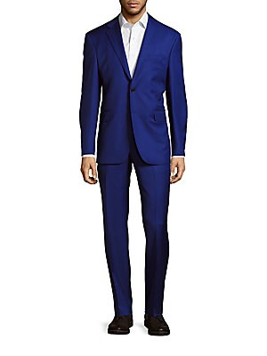 Solid Wool Suit