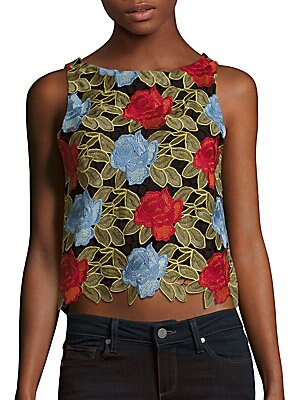 Amal Embroidered Lace Top