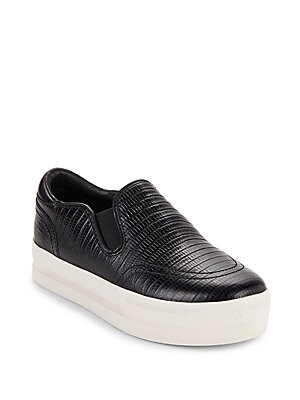 Jungle Textured Leather Platform Shoes