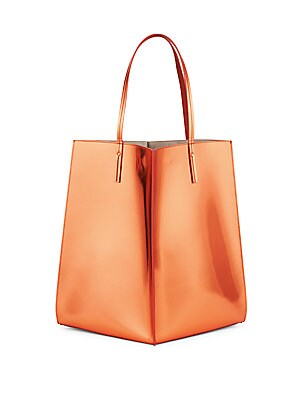 Sia Patent Leather Shopper Bag