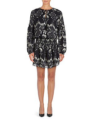 Abstract Printed Smock Dress